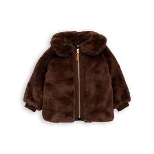 Faux Fur Jacket - Brown