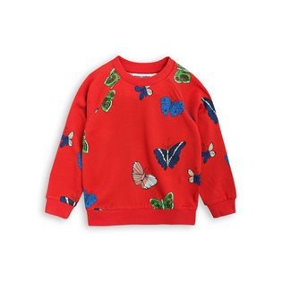 Butterflies Sweatshirt - Red