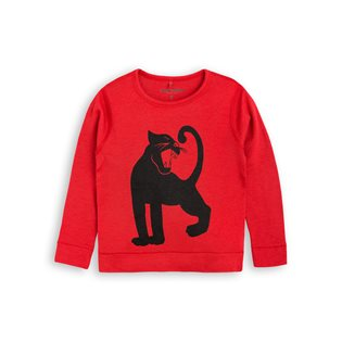Panther SP Wool LS Tee - Red