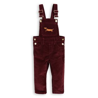 Cord Dungarees - Burgundy