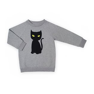Black Cat Basic Sweater