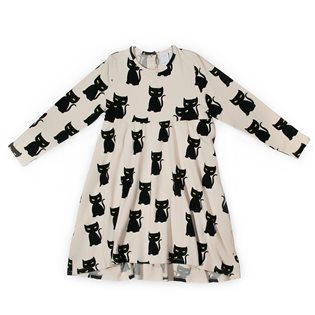 Magic Cat Long Sleeve Dress