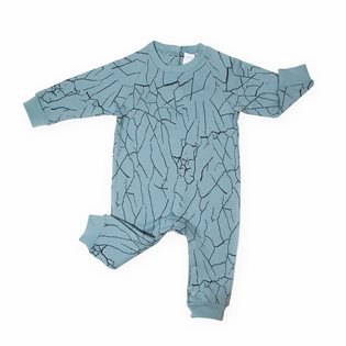 Cracked Wall Jumpsuit - Splattered Green