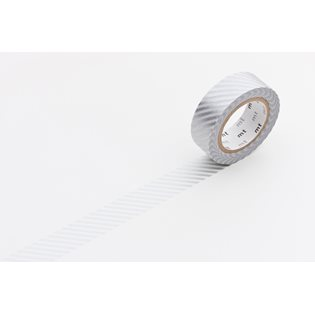 MT Washi Masking Tape - Silver Stripe