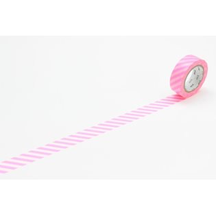 MT Washi Masking Tape - Stripe Shocking Pink