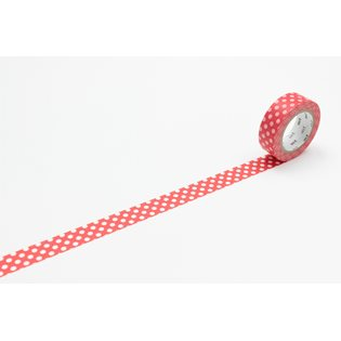 MT Washi Masking Tape - Dot Red & White