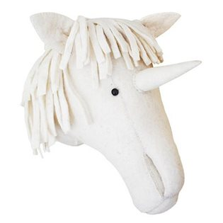 Unicorn Felt Animal Head