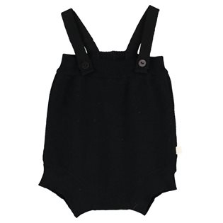 Tricot Body With Suspenders - Black