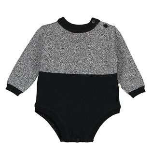 Tricot Long Sleeves Body - Speckle & Black
