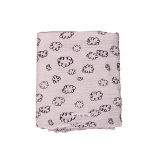 Swaddle Large - Black Clouds