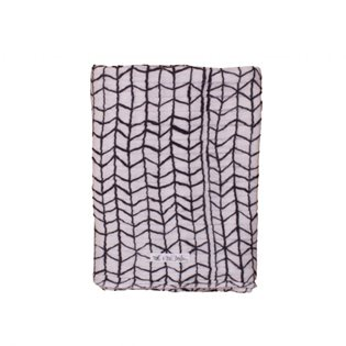 Swaddle Medium - Black Wave Grid