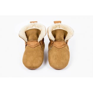 Amy & Ivor Sheepskin Booties - Tan