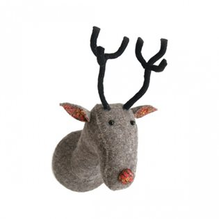 Reindeer Felt Animal Head