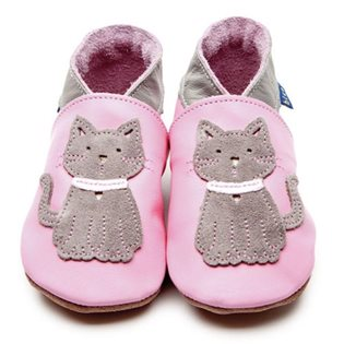 Cat Baby Shoes - Rose Pink