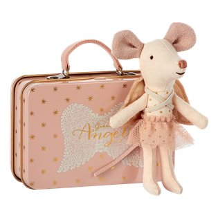 Maileg Mouse - Guardian Angel In Suitcase - Dot