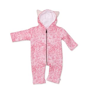 Noe & Zoe Baby Jumpsuit With Ears - Rose Fur