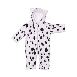 Noe & Zoe Baby Jumpsuit With Ears - Black Seal