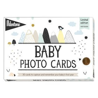 Milestone Baby cards (Over the Moon)
