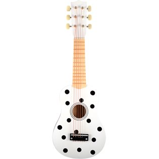 Toy Guitar - 6 Strings - Monochrome Dots
