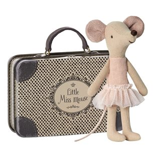 Maileg Ballerina Mouse - Big Sister In Suitcase