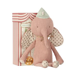 Circus Friends Elephant With Hat (Rose) - Maileg Soft Toy