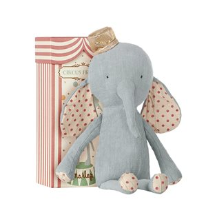 Circus Friends Elephant With Hat (Blue) - Maileg Soft Toy