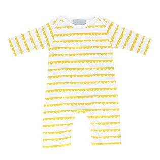 Yellow Bunting Print Sleepsuit