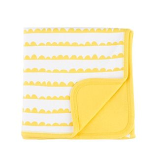 Yellow Bunting Print Blanket