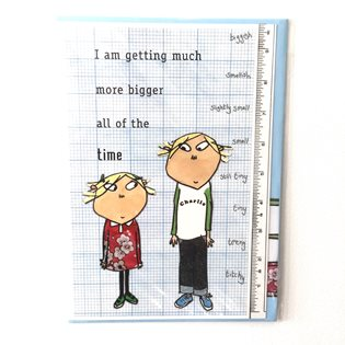 Charlie & Lola - I Am Bigger Birthday Card