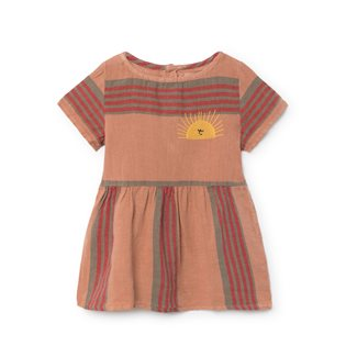 Stripes Linen Baby Tee-Dress