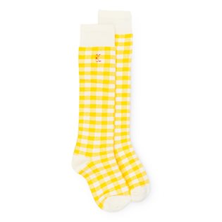Yellow Vichy Socks