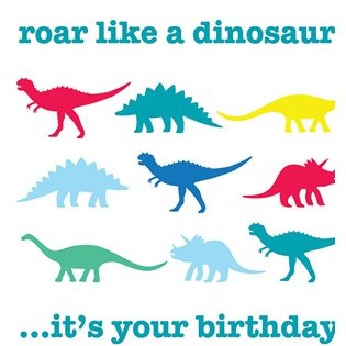 Roar Like a Dinosaur Card