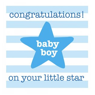 Little Star - Boy Card