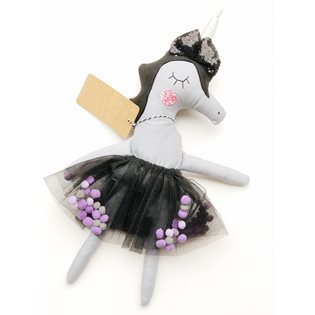 Goth Unicorn Doll