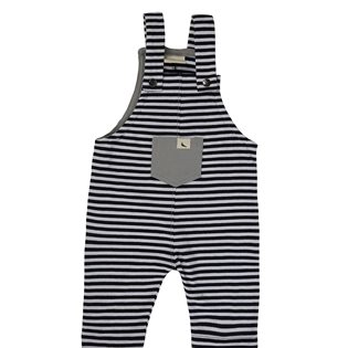 Bee Lucky Easy Fit Dungarees - Monochrome