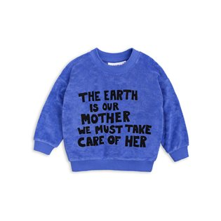 Mother Earth Terry Sweatshirt - Blue