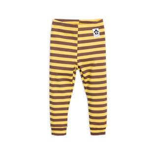 Stripe Rib Leggings - Yellow