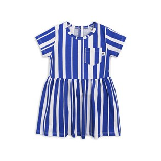 Odd Stripe SS Dress - Blue