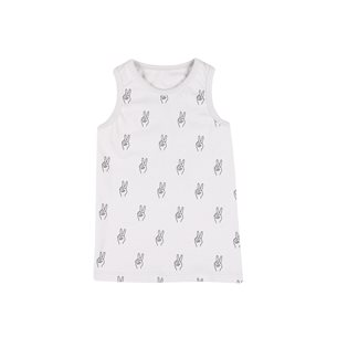 Peace AOP Tank Top - Vapour Grey