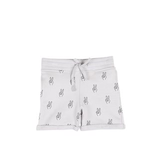 Peace AOP Shorts - Vapour Grey
