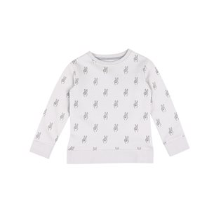Peace AOP Basic Sweatshirt - Vapour Grey