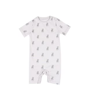 Peace AOP Baby Onesie SS - Vapour Grey