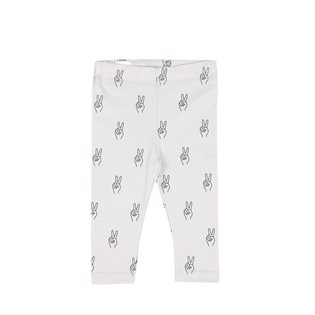 Peace AOP Baby Leggings - Vapour Grey