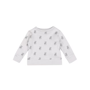 Peace AOP Baby Basic Sweatshirt - Vapour Grey