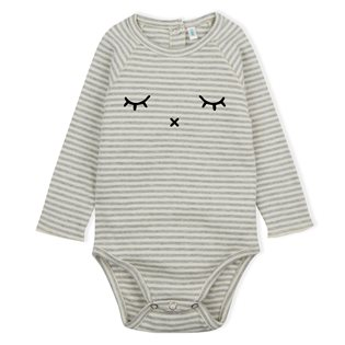Sleepy Bodysuit  - Grey Stripes