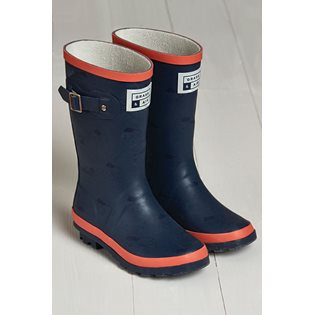 G&A Navy & Coral Wellies