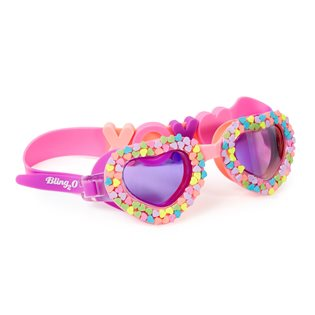 Candy Hearts Swimming Goggles - Be Mine Pastel Heart