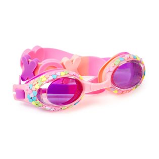 Candy Hearts Swimming Goggles - Hugs & Kisses Pink