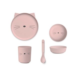 Bamboo Tableware Box Set - Cat Rose