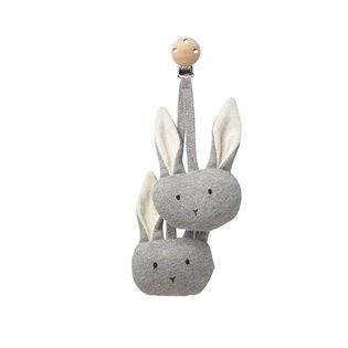 Rosa Pram Toy - Rabbit Grey Melange